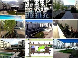 Residencial Europa Jardines de estilo clásico de Liquidambar.es Clásico