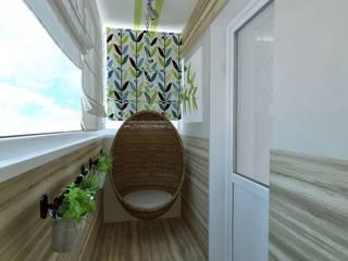 Квартира в Челябинске для молодой девушки  с видом на лес. :  в современный. Автор – Елена Кокшарова  Eldesign74, Модерн