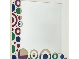 Specchio Brio Triangles Colors:  in stile  di LIGNIS