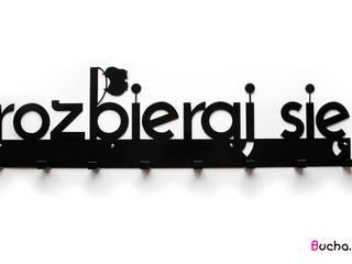 ROZBIERAJ SIĘ Wieszak do przedpokoju metalowy XXXL: styl , w kategorii  zaprojektowany przez Bucha