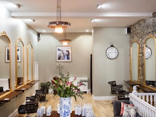 East End hair salon refurbishment SWM Interiors & Sourcing Ltd Espacios comerciales de estilo ecléctico