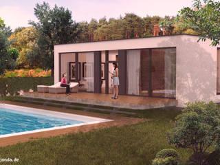 Designentwicklung und 3D-Visualisierung eines Ferienhauskonzeptes:  Häuser von agentur jonda