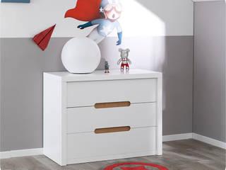 Commode Enfant Bow Blanche:  de style  par Ma Chambre d'enfant.com