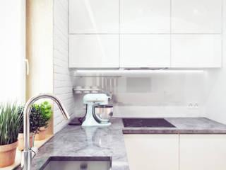 Mieszkanie w centrum Wrocławia: styl , w kategorii Kuchnia zaprojektowany przez COOLDESIGN
