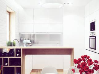 Mieszkanie w centrum Wrocławia: styl , w kategorii Jadalnia zaprojektowany przez COOLDESIGN