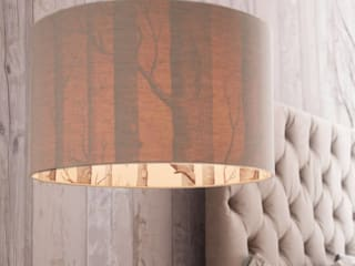 The Woods Wallpaper Lampshade in Linen: modern  by love frankie, Modern