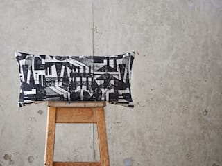 Collagraph Repeat 30 x 60 cm cushion:   by Laura Slater
