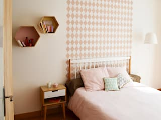 Sandrine Carré Scandinavian style bedroom