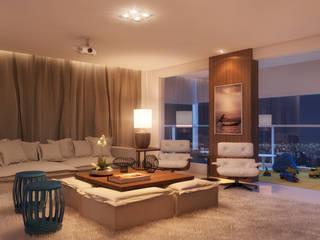 CASA DE PROJETOS 现代客厅設計點子、靈感 & 圖片