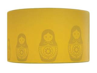 Babushka Silhouette Lampshade in Sunny:   by Atomic Doris