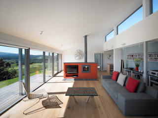 The Houl: modern Living room by Simon Winstanley Architects
