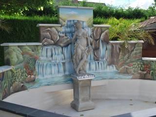 fresques extérieures Jardin tropical par Emilie Cardinale Tropical