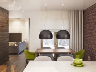 PROJEKT DOMU W LUBLINIE: styl , w kategorii Jadalnia zaprojektowany przez Kunkiewicz Architekci