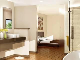 Schlafzimmer mit Bad:  Schlafzimmer von agentur jonda