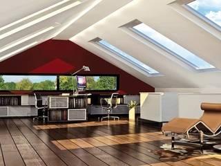 Dachgeschoss mit Arbeitszimmer und kleiner Loungeecke:  Arbeitszimmer von agentur jonda