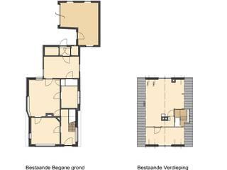 plattegronden oude indeling:   door TTAB (Tjade Timmer Architect & Bouwadvies)