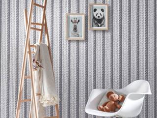 Trompe-l'oeil KOZIEL : Papier peint tricot gris:  de style  par KOZIEL.fr