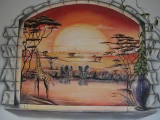 Fresques pour les enfants Chambre d'enfant coloniale par Emilie Cardinale Colonial