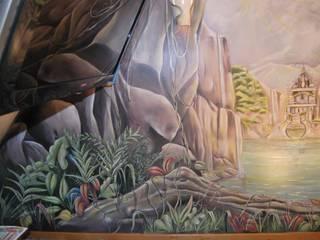 Fresques pour les enfants Chambre d'enfant tropicale par Emilie Cardinale Tropical