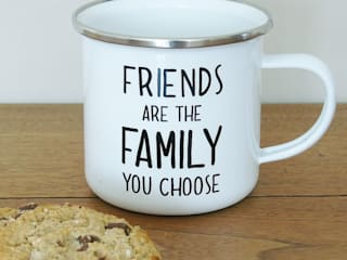 Friends Are The Family You Choose Enamel Mug:   by The Den & Now