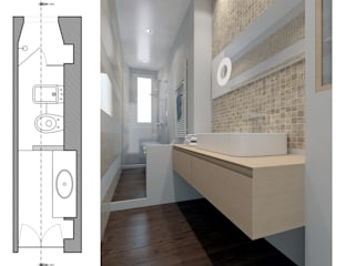 Salle de bain moderne par GINO SPERA ARCHITETTO Moderne