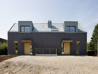 Zweifamilienhaus Wannenstrasse 13 Moderne Häuser von Brockmann Stierlin Architekten Modern