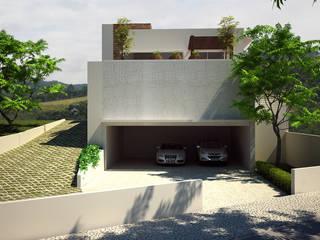浴室 by Flávia Brandão - arquitetura, interiores e obras, 現代風