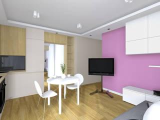 Projekt wnętrza mieszkania 35 m2 w Krakowie: styl , w kategorii Jadalnia zaprojektowany przez Lidia Sarad