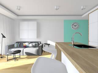 Projekt wnętrza mieszkania 70 m2 w Krakowie: styl , w kategorii Salon zaprojektowany przez Lidia Sarad