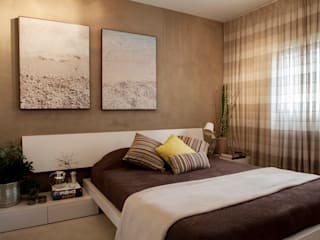 Helô Marques Associados Eclectic style bedroom