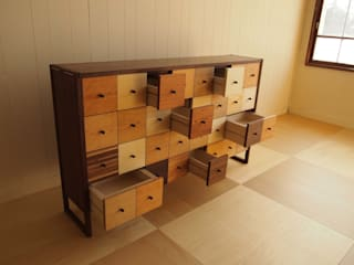 家具工房旅する木 Living roomTV stands & cabinets