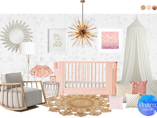 Sophia's whimsical nursery Modern style bedroom by Kinderoo Childrens Interiors Modern