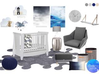 Modern nursery for a beautiful baby boy Modern nursery/kids room by Kinderoo Childrens Interiors Modern