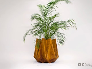 Kronen 65 Large Concrete Planter Adam Christopher Design JardimPotes vasos Concreto Laranja