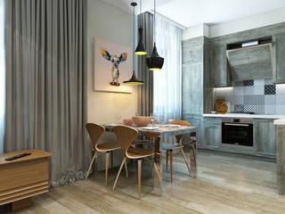 Квартира на улице Песчаная. Москва Кухня в стиле минимализм от Rustem Urazmetov Минимализм