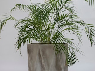 Prisme Large Concrete Planter Adam Christopher Design JardimPotes vasos Concreto Cinza