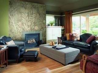 4 Duvar İthal Duvar Kağıtları & Parke Salas de estar modernas