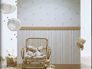 4 Duvar İthal Duvar Kağıtları & Parke Modern nursery/kids room
