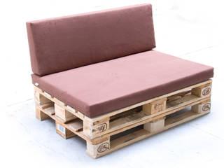 Paletten-Polster Kombi Sitz&Lehne  mit Bezug: industriale Wohnzimmer von IQ Frankenschaum GmbH