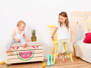 "​Wooden toy box ""Watermelove"" NOBOBOBO Nursery/kid's roomStorage"