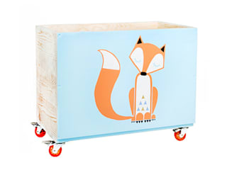 "Toy box ""Sleepy fox"" NOBOBOBO Nursery/kid's roomStorage"