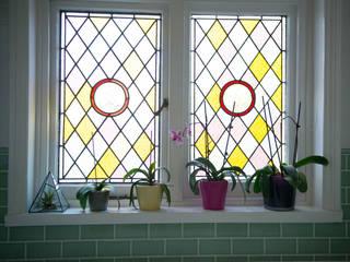 Original Stained Glass Window : modern Bathroom by Blue Cottini