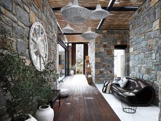Pasillos y vestíbulos de estilo  por Engel & Völkers Bodrum, Moderno