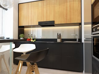 2-х комнатная квартира в Москве Кухня в стиле минимализм от Rustem Urazmetov Минимализм