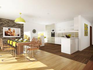 Дизайн загородного дома в Норвегии Кухня в скандинавском стиле от Rustem Urazmetov Скандинавский