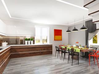 Гостиная в загородном доме Кухня в скандинавском стиле от Rustem Urazmetov Скандинавский