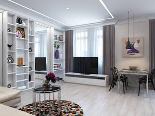 Дизайн гостиной на ул. Песчаная. Москва Гостиная в стиле минимализм от Rustem Urazmetov Минимализм