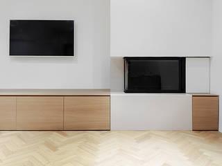 Living room by (dp)ªSTUDIO, Minimalist