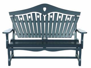 Heart Back Garden Bench: classic  by Sitting Spiritually Ltd, Classic