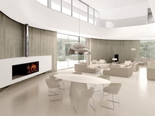 Living room by ASA Autorskie Studio Architektury, Minimalist
